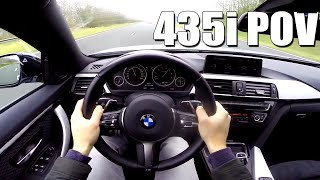 POV BMW 4 series 435i Gran Coupe 340 HP M PERFORMANCE Exhaust & Chip Test Drive Sound