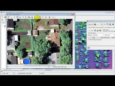 Real time DSM Editing with Ortho Preview - Residential area