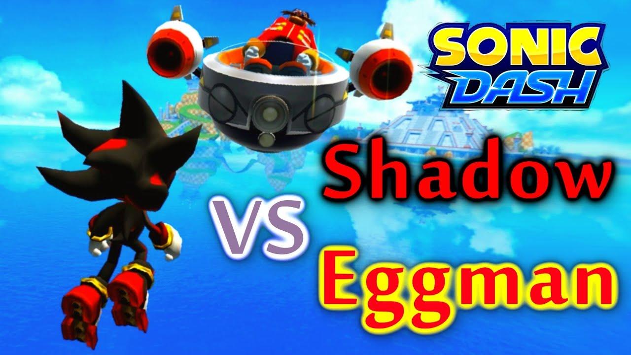 Sonic Dash Shadow Vs Eggman Widescreen Landscape