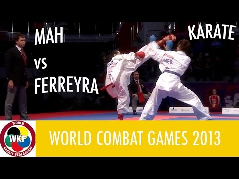 Karate Woman's Kumite -61kg. MAH vs FERREYRA. World Combat Games 2013