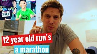 12 year old run's a marathon