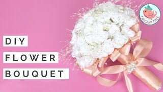 Wedding Bouquet Tutorial - How to Make DIY Flower Bouquet for Weddings & Spring - Real/Fake Flowers