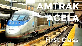 AMTRAK ACELA First Class - what's it like?