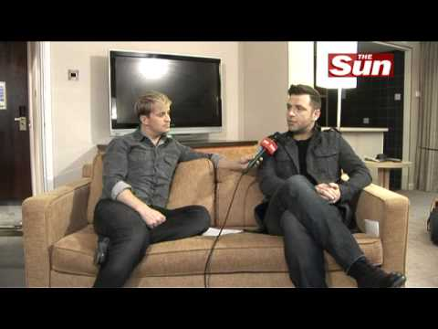 Westlife's Kian Egan interviews Mark Feehily on  The Sun  Showbiz Bizarre