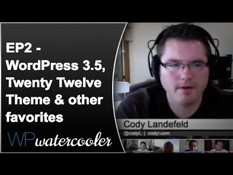 This is Episode 2 of our WPwatercooler show. Lots of great folks in this episode. Lucy Beer, Sé Reed, Steve Zehngut, Cody Landefeld, Verious Benjamin Smith I...