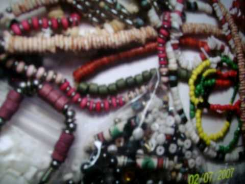 necklace making: hide the knots: earn money : creativity beads metal bone thread stone rock Video