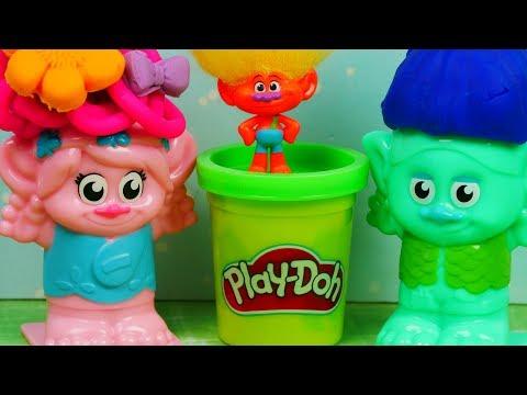 Trolle & Play Doh   Zmiana Fryzur   Bajki dla dzieci