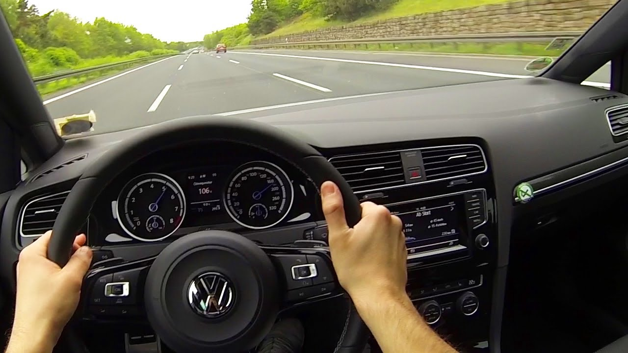 Vw Golf 7 R Onboard Pov Acceleration Driver View Autoban