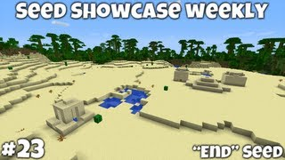 "Minecraft 1.4.7 || ""End"" Seed Showcase || Jungle Temple! Desert Temple! Desert Well!"