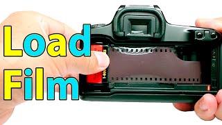 How load 35mm Film into Canon EOS Rebel S II Camera