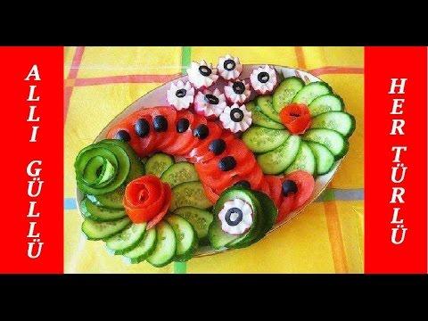 Salata Süslemeleri-Salata Sunumları