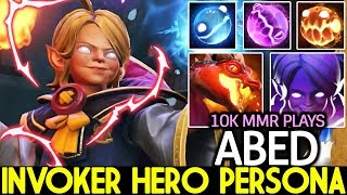 ABED [Invoker] New Set Young Invoker Hero Persona 10k MMR Plays 7.22 Dota 2