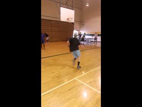 Freshman at North Moore High School- 2 Handed Dunk
