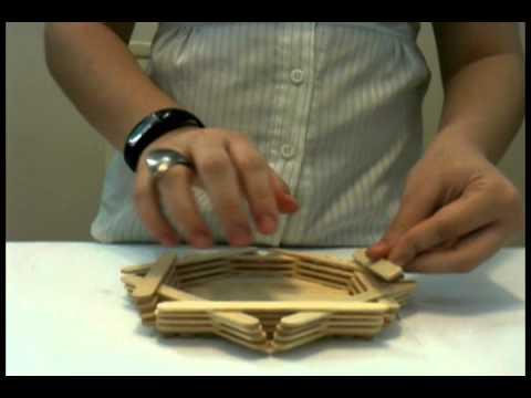 Como fazer vaso de palitos de picolé