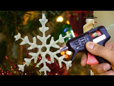 DIY Snowflakes - Christmas Craft Decoration Ideas
