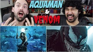 AQUAMAN Movie Poster REACTION & NEW VENOM PIC Before Comic Con!!!
