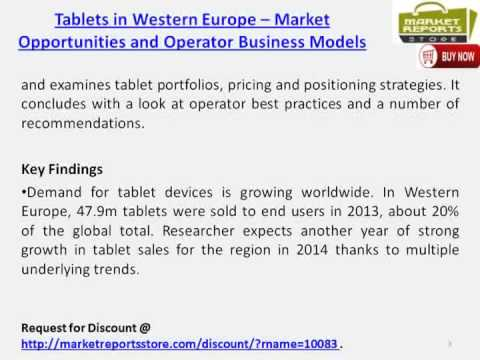 Tablets Market in Western Europe- Demand Profile & Competitive landscape
