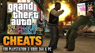 GTA: The Ballad of Gay Tony Cheats