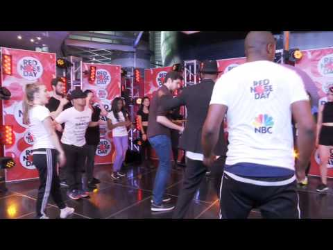 Ben Aaron Celebrates Red Nose Day With Nick Cannon And Dancing!