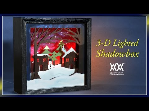 Lighted 3-D Scroll Saw Shadowbox | WWMM ART & DESIGN