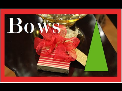 Christmas Bows, Holiday gift wrapping Part 2