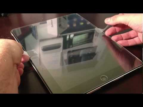 GLAS.t Premium Tempered Glass Screen Protector For The iPad - Installation
