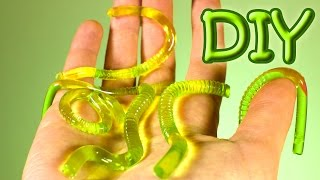 DIY Gummy Worms - How To Make Gummy Jelly Worms Recipe