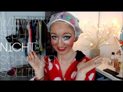 HOW NOT TO WEAR MAKEUP - Wie man sich NICHT schminken sollte | Mirellativegal
