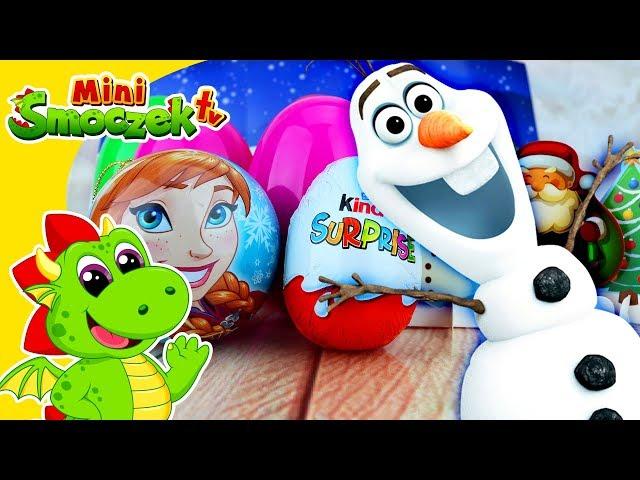 Kraina Lodu - Olaf Otwiera Jajka Niespodzianki i Znajduje Zabawki Na Święta Bożego Narodzenia!