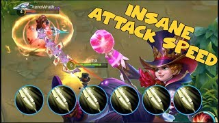 HARLEY INSANE ATTACK SPEED | FULL FEATHER OF HEAVEN BUILD (Mobile Legends)