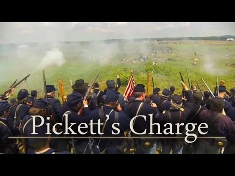 Gettysburg 150th - Pickett's Charge (Civil War Reenactment)