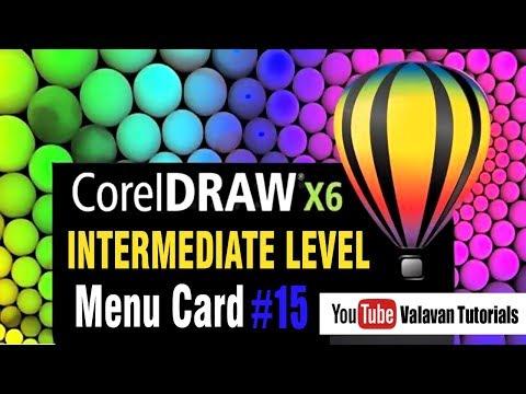 Menu Card | Corel Draw tutorial for Intermediate level | கோரல்டிரா x6 #15