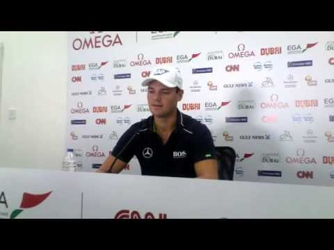 Martin Kaymer Pre Press Conference ahead of the 2015 Omega Dubai Desert Classic