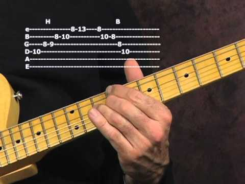 Learn lead blues guitar lesson modern post war BB King Otis Rush styles with tabs