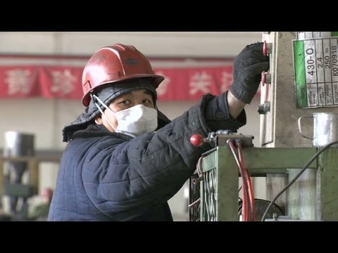 Chinese workers flex their muscles