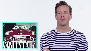 Armie Hammer on Talking Cars In Movies & TV   Vanity Fair