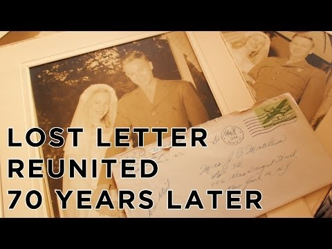Lost Love Letter Reunited with Family 70 years Later  - Lost Letter Project Part 2