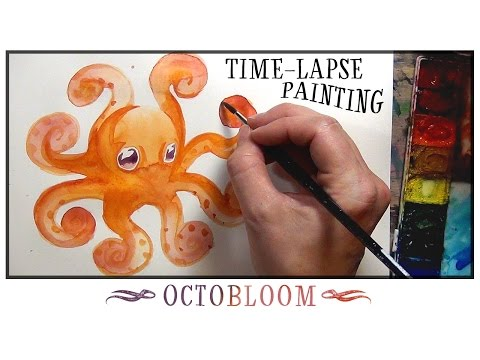OCTOBLOOM - Watercolor Painting