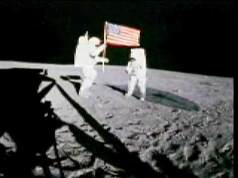 First Step On Moon Putting Flag On Moon Youtube