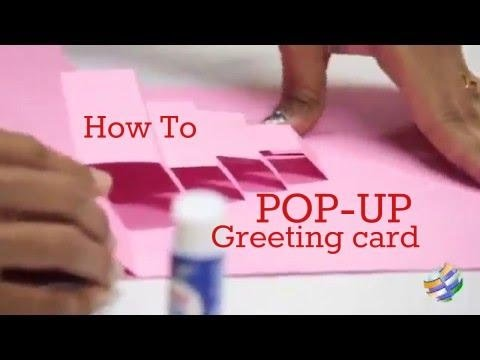 How To Make A Pop Up Birthday Greeting Card Youtube