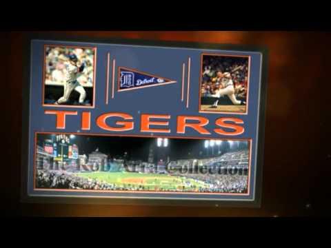 Detroit Tigers Comerica Park team stadium Players Prints & Posters, Sports Art, Memory Mats