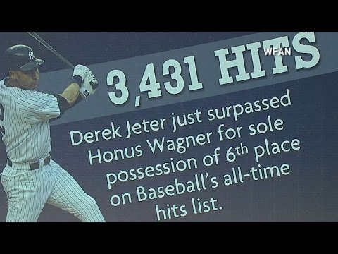 Jeter passes Wagner on all-time hits list