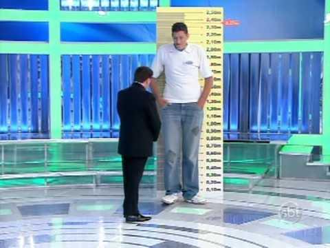 Programa Silvio Santos - Desafio: Ninão é o mais alto do Brasil