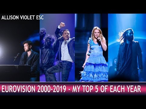 Eurovision 2000-2019 - My Top 5 of each year