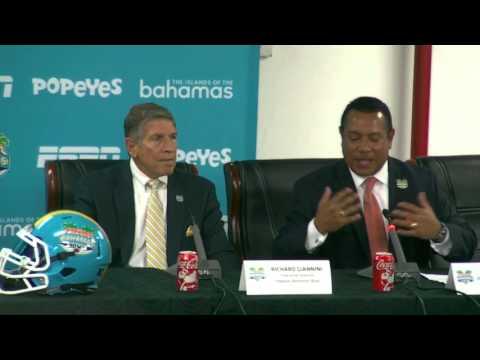Popeyes Bahamas Bowl 2015:Hector Munoz at Pregame News Confrence