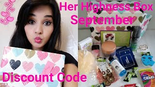 Her Highness Box September 2017 | Unboxing & Review |Giveaway Open - No Rules