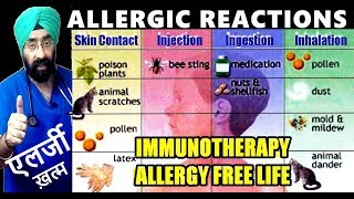 एलर्जी मुक्ति | Understand ALLERGIES & Immunotherapy for Allergy free Life (Hindi) Dr.Education