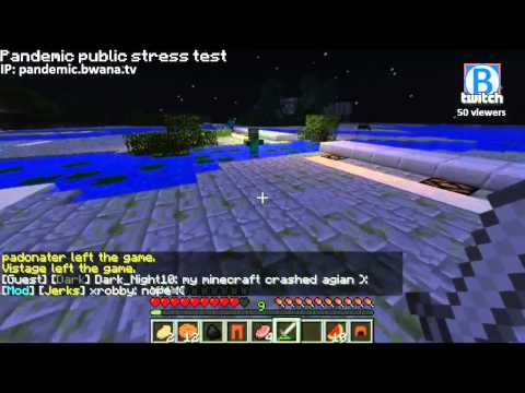 Minecraft Pandemic - PUBLIC STRESS TEST - pandemic.bwana.tv gogogog! - 4 / 7