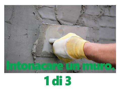 Come intonacare un muro prima parte wmv youtube - Come rivestire un muro interno ...