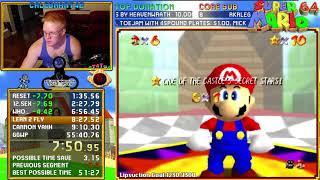 Super Mario 64 70 Star Speedrun (58:02)